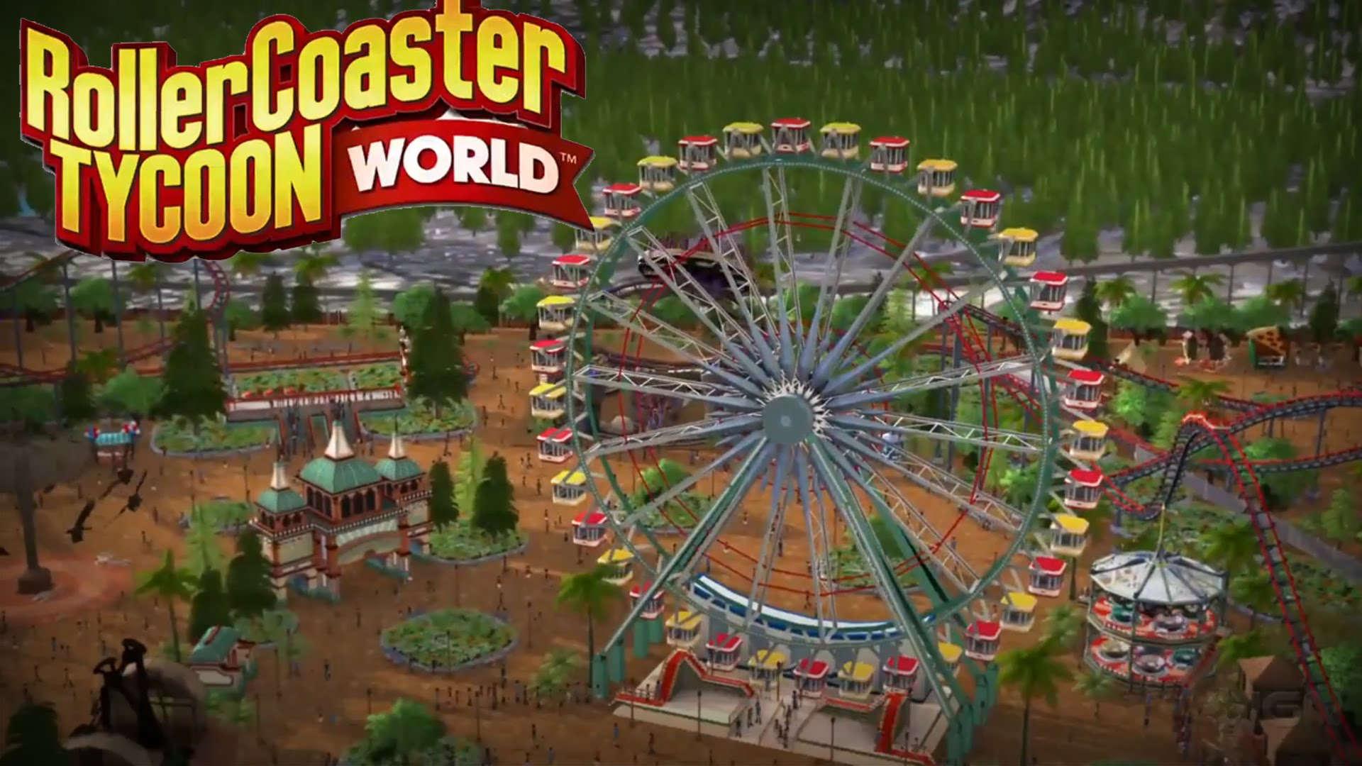 Rollercoaster Tycoon World Gameplay Trailer