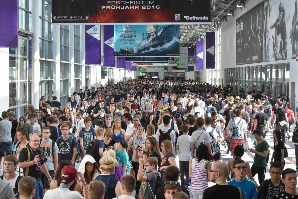 Gamescom Rekordbesucherzahl auf dem Boulevard Nord